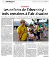 Lien vers l'article de presse de l'Alsace du 23 juillet 2018 : Les enfants de Tchernobyl : 3 semaines à l'air alsacien