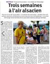 Lien vers l'article de presse des DNA du 23 juillet 2018 : 3 semaines à l'air alsacien