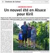 Lien vers l'article de presse de l'Alsace du 26 juillet 2018 : Un nouvel été en Alsace pour Kiril