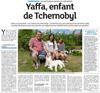 Lien vers l'article de presse des DNA du 28 juillet 2018 : Yaffa, enfant de Tchernobyl