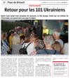 Lien vers l'article de presse de l'Alsace du 29 juillet 2018 : Retour pour les 101 Ukrainiens