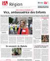Lien vers l'article de presse de l'Alsace du 08 juillet 2018 : Vica, ambassadrice des enfants