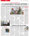 Lien vers la une de presse de l'Alsace du 15 juillet 2018 : La catastrophe n'est pas terminée