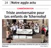 Lien vers l'article de presse de l'Alsace du 23 avril 2018 : Triste anniversaire pour les enfants de Tchernobyl