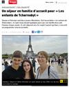 Lien vers l'article de presse de Vosges Matin du 09 août 2019 : Un séjour en famille d'accueil pour « Les enfants de Tchernobyl »