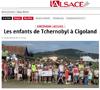 Lien vers l'article de presse de l'Alsace du 13 août 2019 : Les enfants de Tchernobyl à Cigoland