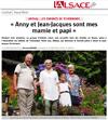 Lien vers l'article de presse de l'Alsace du 14 août 2019 : « Anny et Jean-Jacques sont mes mamie et papi »