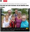 Lien vers l'article de presse de l'Est Républicain du 16 août 2019 : En solo sur son tracteur et en famille avec Artem
