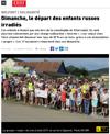 Lien vers l'article de presse de l'Est Républicain du 23 août 2019 : Dimanche, le départ des enfants russes irradiés