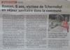 Lien vers l'article de presse de Vosges Matin du 12 septembre 2019 : Roman, 8 ans, victime de Tchernobyl en séjour sanitaire dans la commune