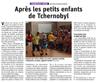 Lien vers l'article de presse des DNA du 12 juillet 2019 : Après les petits enfants de Tchernobyl