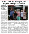 Lien vers l'article de presse des DNA du 25 juillet 2019 : D'Ukraine au Sundgau, un séjour vital pour Ivilina