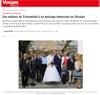Lien vers l'article de presse de Vosges Matin du 18 novembre 2020 : Des enfants de Tchernobyl à un mariage émouvant en Ukraine