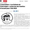 Lien vers l'article de presse des DNA du 16 novembre 2020 : L'association « Les Enfants de Tchernobyl » recherche des familles d'accueil pour l'été 2020