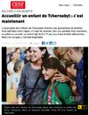 Lien vers l'article de presse des DNA du 19 novembre 2020 : Accueillir un enfants de Tchernobyl : C'est maintenant