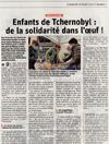 Lien vers l'article de l'Alsace du 28 mars 2021 : Enfants de Tchernobyl : de la solidarité dans l'oeuf !